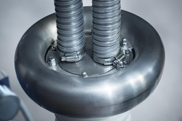 Caixa de conexão do cabo de alta tensão de aço inoxidável com cabo de alimentação em caixa de metal e cabo de aterramento