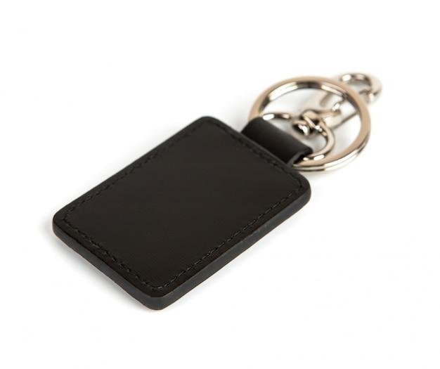 Caixa de couro preta chave
