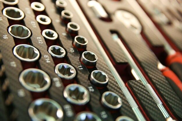 Caixa de ferramentas com chaves de soquete