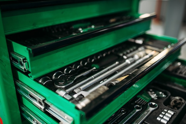 Caixa de ferramentas de serviço de carro, instrumento profissional