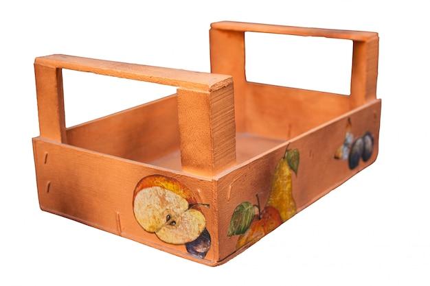 Caixa de frutas decorada
