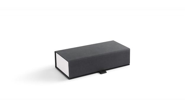 Caixa de óculos fechada cinza em branco