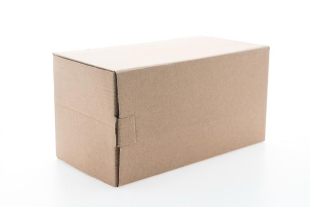 Caixa de papel marrom