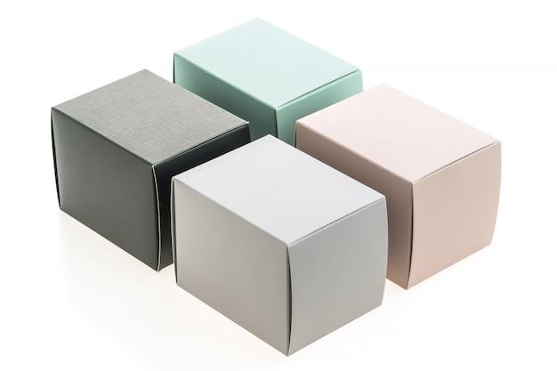 Caixa de papel simulada