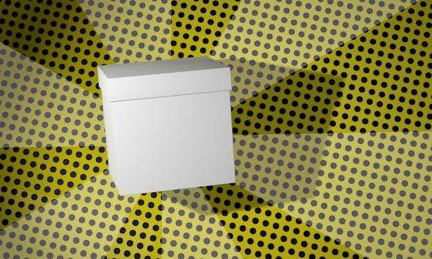 Caixa de papelão cópia espaço em branco sobre fundo de quadrinhos