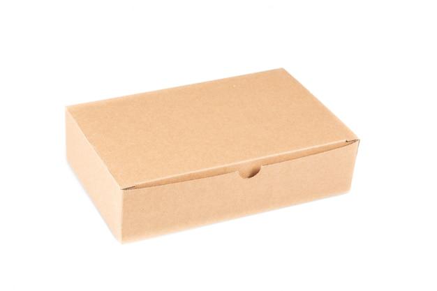 Caixa de papelão marrom