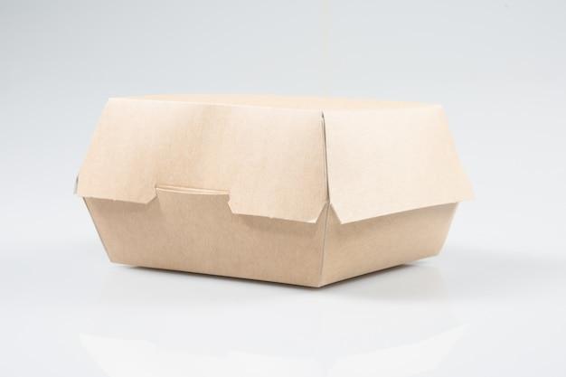 Caixa de papelão para deslizar hambúrgueres ou sanduíches