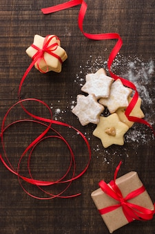 Caixa de presente com cookies