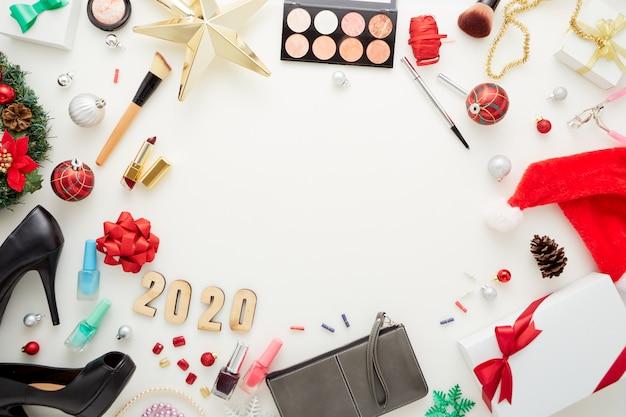 Caixa de presente de decorações de natal e acessórios cosméticos