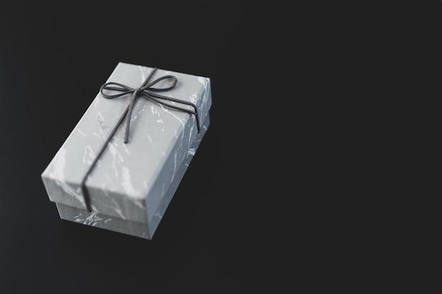 Caixa de presente de mármore preto