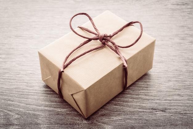 Caixa de presente marrom