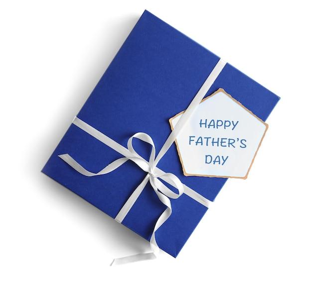 Caixa de presente para o dia dos pais isolada no branco