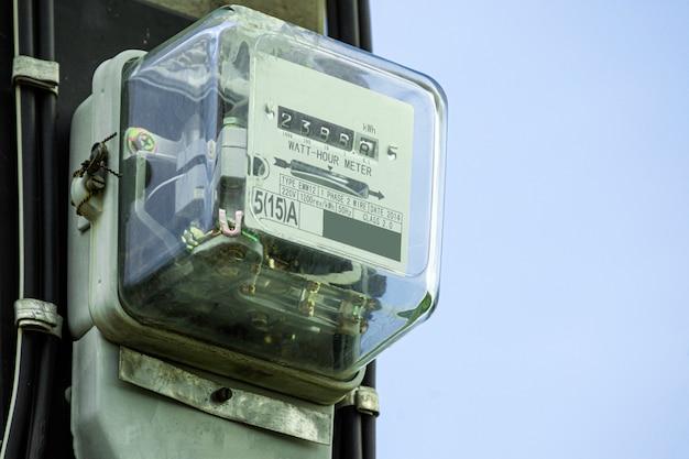 Caixa do medidor de energia elétrica