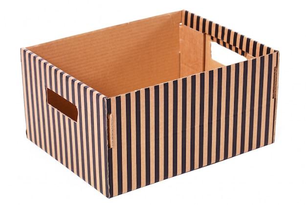 Caixa listrada isolada