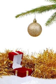 Caixa para brincos como presente de natal