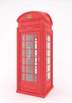 Caixa vermelha do telefone