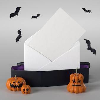 Caixão com envelope para o halloween