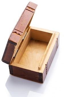 Caixão de madeira vintage