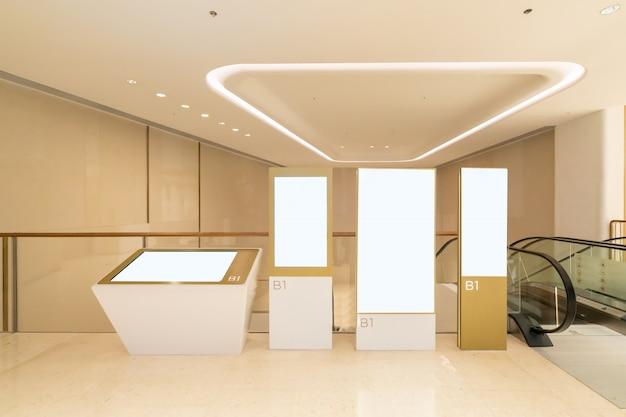 Caixas de luz no shopping de luxo