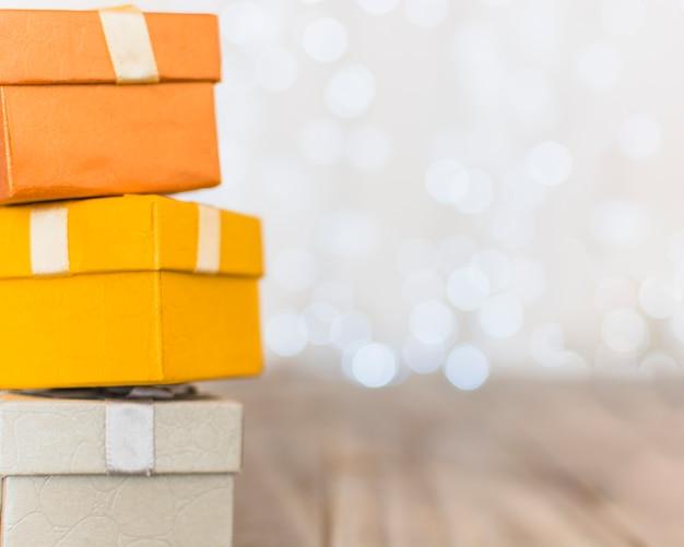 Caixas de presente colorido