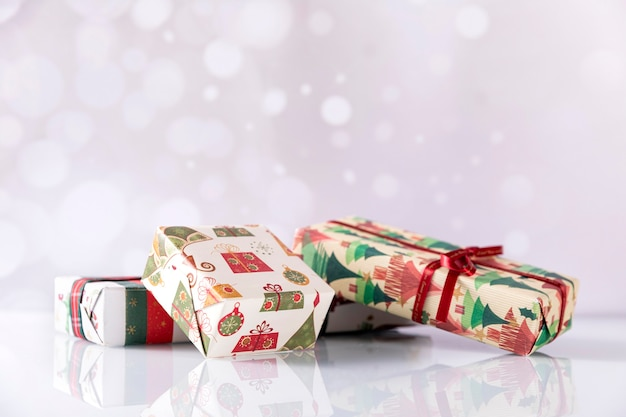 Caixas de presente de natal