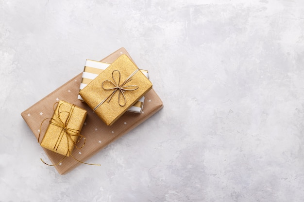 Caixas de presente de ouro