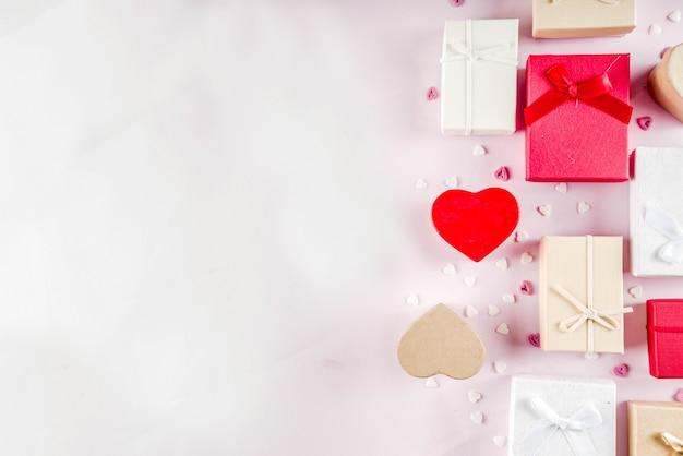 Caixas de presente de presentes de dia dos namorados