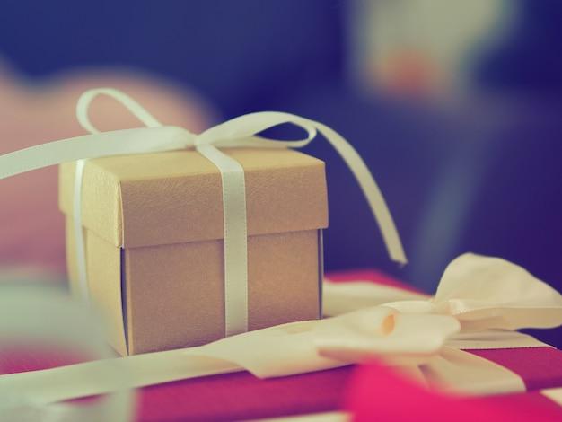 Caixas de presente na festa de natal
