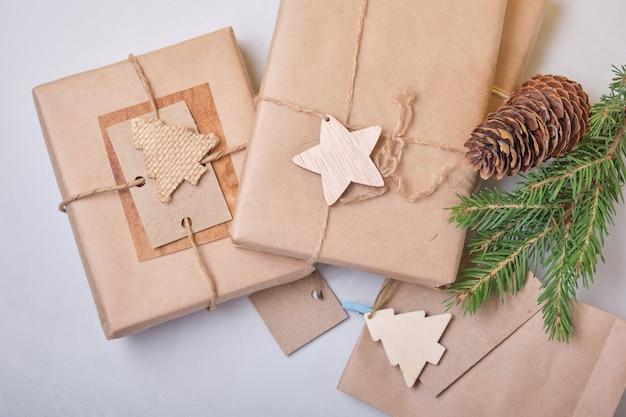 Caixas de presentes ecológicos, embalagens para presentes diy