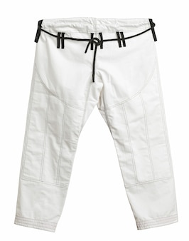 Calça de quimono esportivo para treinamento, isolada no fundo branco