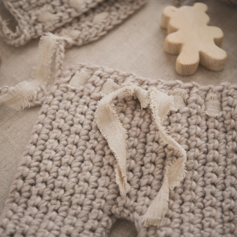 Calças de bebê de malha
