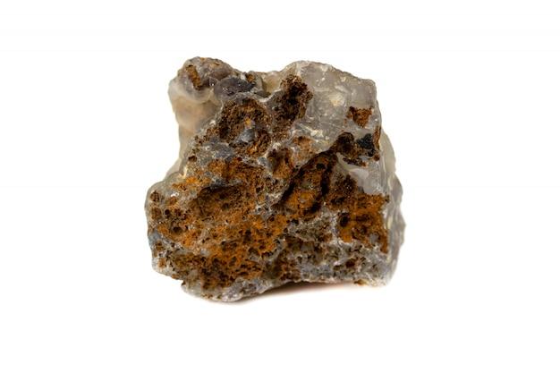 Calcedônia pedra para acessórios industriais isolar