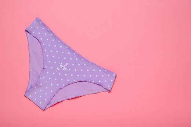 Calcinha feminina de algodão lilás