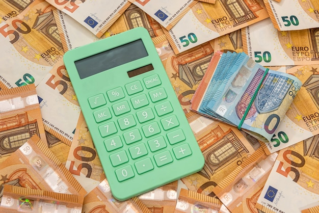 Calcualtor em dinheiro europeu