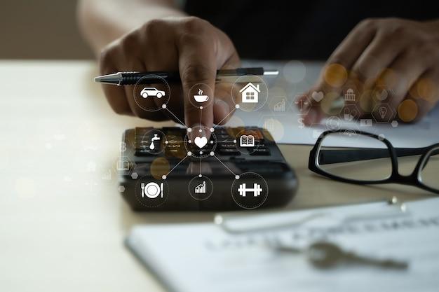 Calculadora de pagamento de empréstimo gastando documentos de empréstimo imobiliário