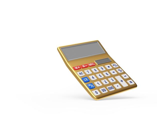 Calculadora eletronica dourada