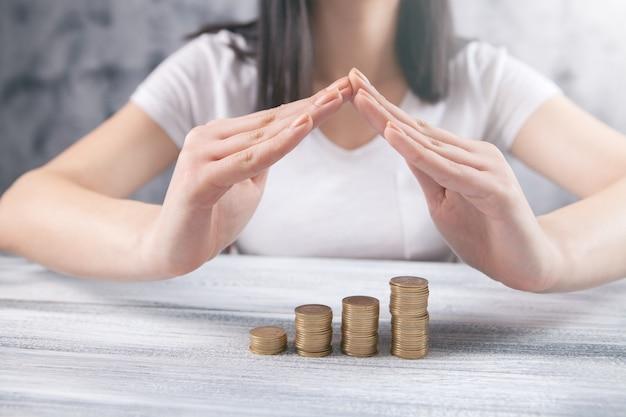 Calculando o conceito de negócio de finanças de dinheiro.