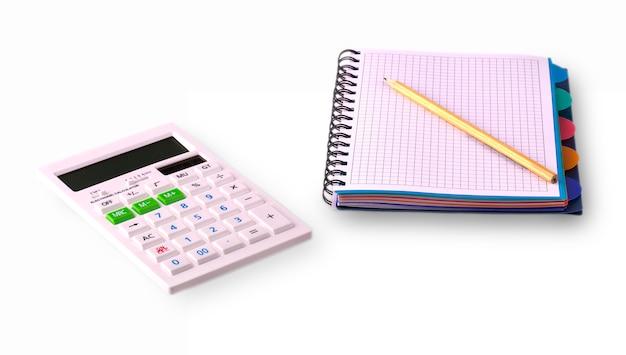 Calcular, caderno e lápis