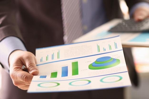 Cálculo de estatísticas da economia encargo da empresa