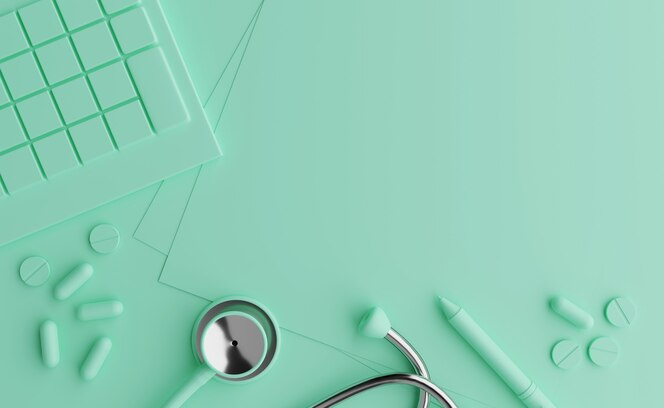 Cálculo de seguro de saúde, despesas com boa saúde. fundo pastel
