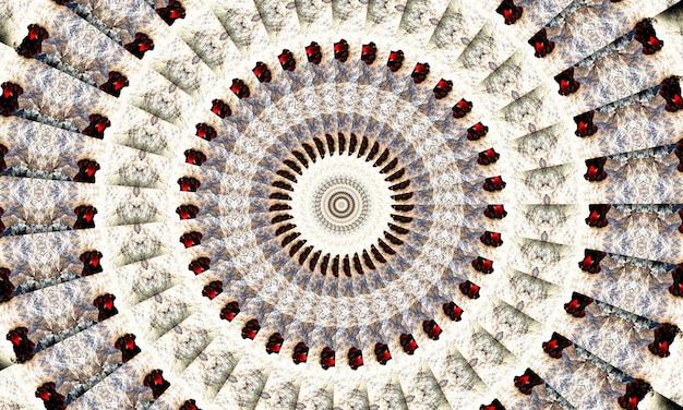 Caleidoscópio preto e branco. teste padrão floral monocromático. pode ser usado para o design da página do livro para colorir, passatempo anti-stress para adultos. tema noir, ilustração em preto e branco.
