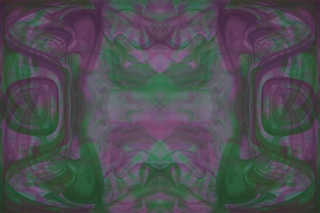 Caleidoscópio verde e rosa abstrata padrão sem emenda