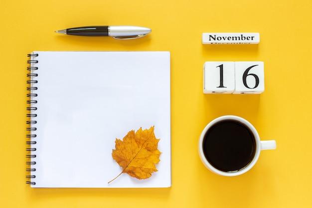 Calendário 16 de novembro
