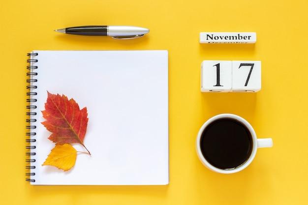 Calendário 17 de novembro