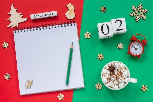 Calendário 2 de dezembro