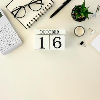 Calendário com dia do chefe