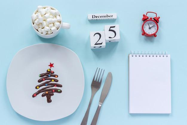Calendário de composição de natal 25 de dezembro