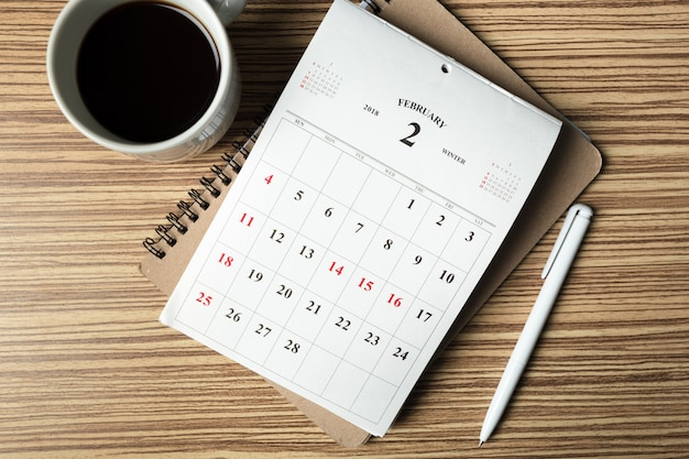 Calendário de espaço de trabalho