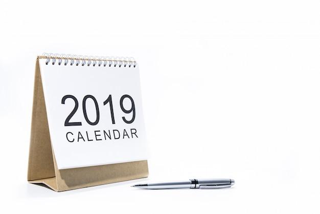 Calendário de papel de mesa 2019