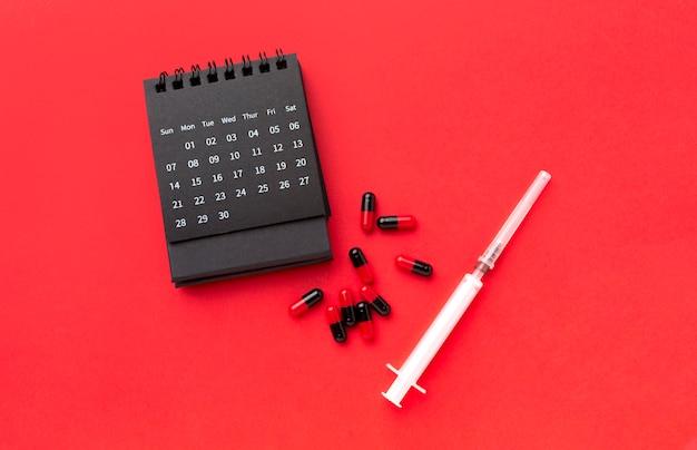 Calendário e pílulas